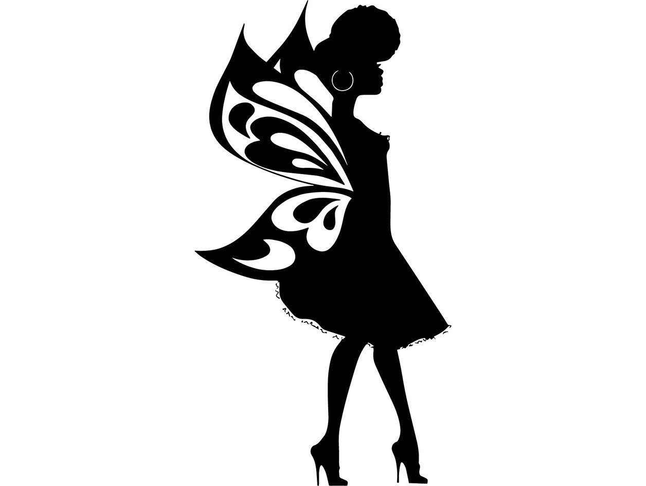Fairy Silhouette Vector At Getdrawings