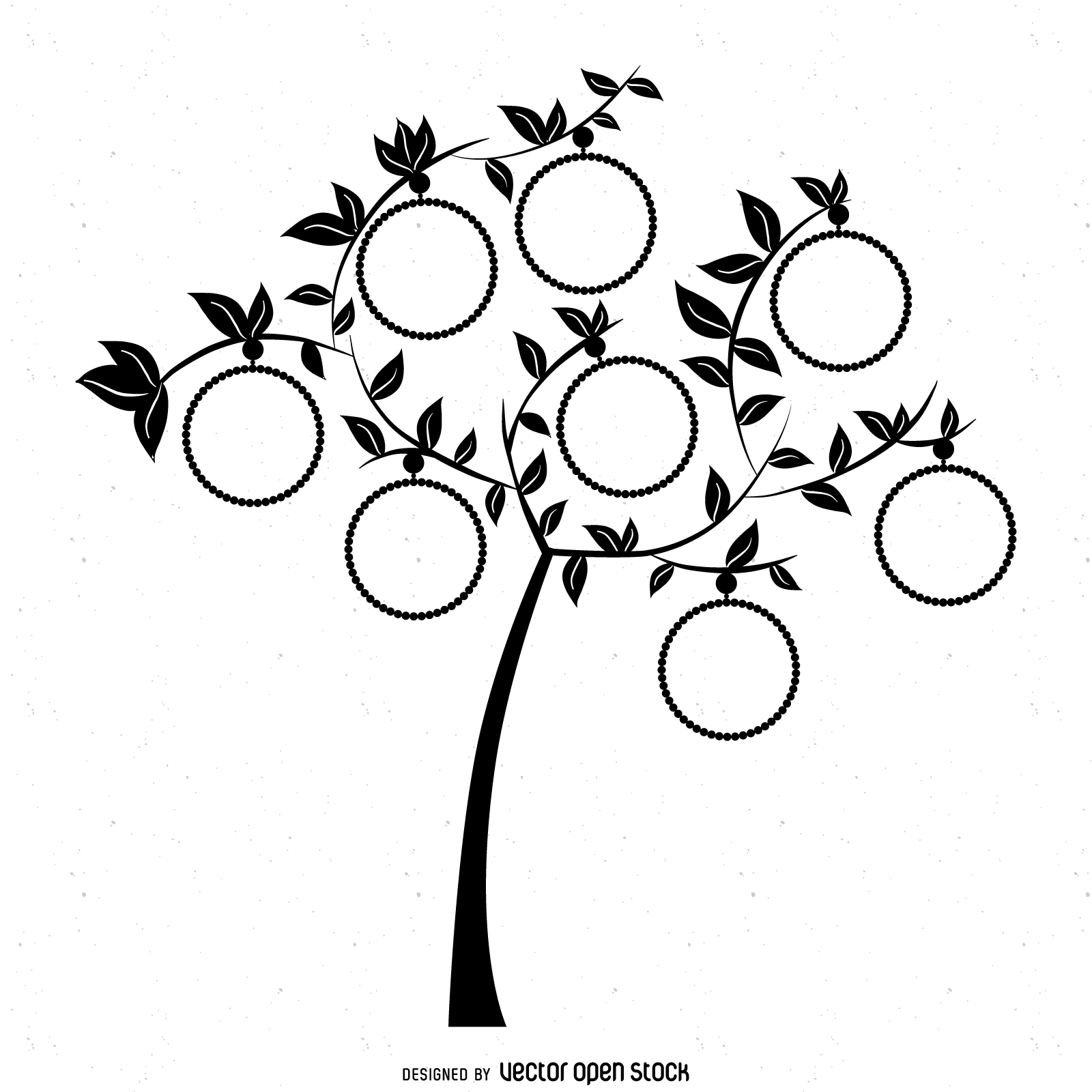 Family Tree Silhouette Vector At Getdrawings