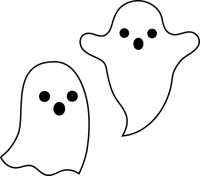 halloween clipart black and white ghost