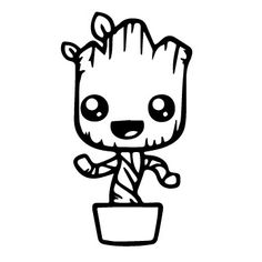 Groot Silhouette At Free For Personal