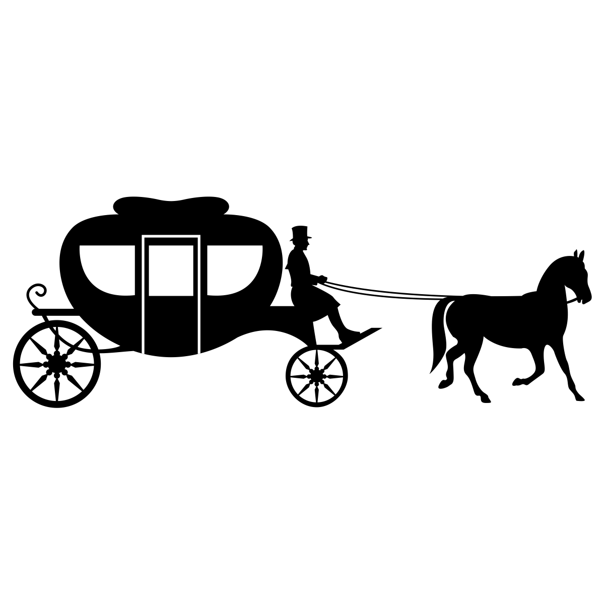 Horse And Buggy Silhouette At Getdrawings