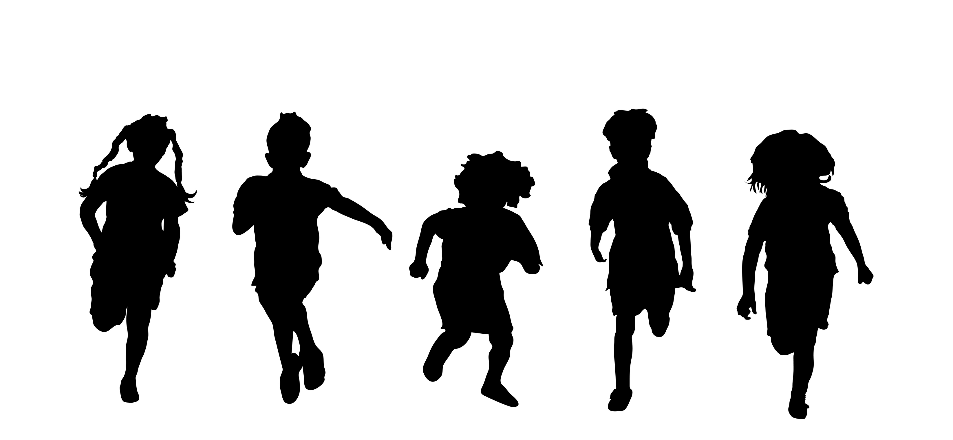 Kids Jumping Silhouette At Getdrawings
