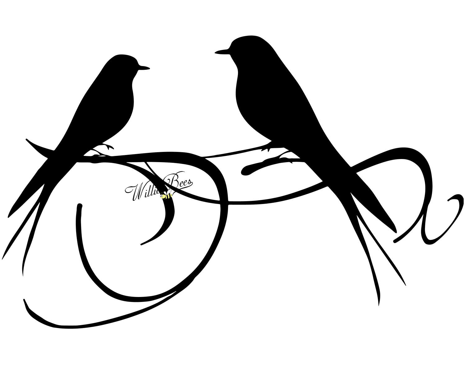 Love Birds Silhouette Clip Art At Getdrawings