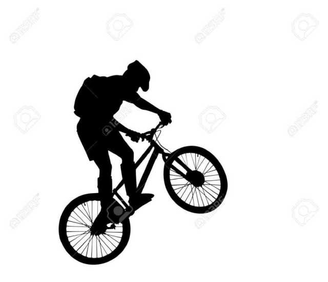 Mountain Bike Silhouette at GetDrawings | Free download