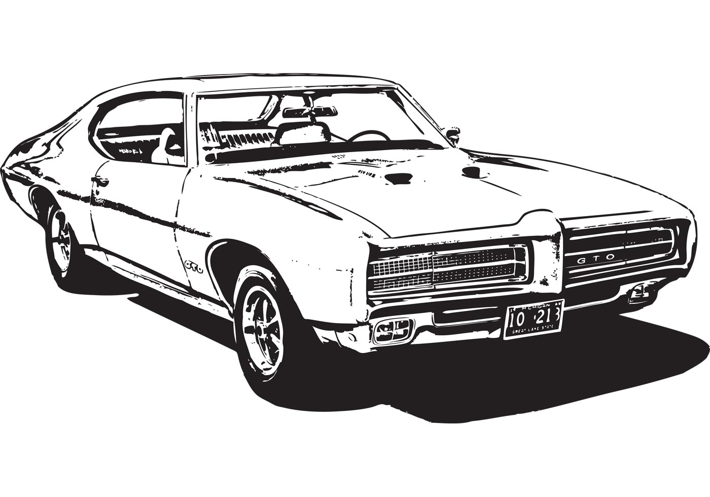 Muscle Car Silhouette At Getdrawings