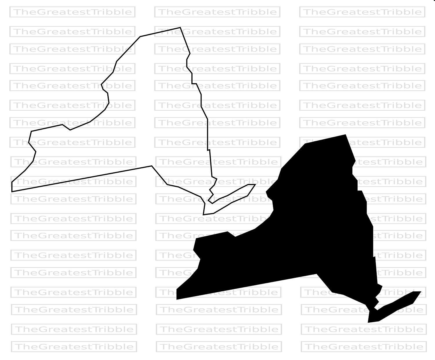 New York State Silhouette At Getdrawings
