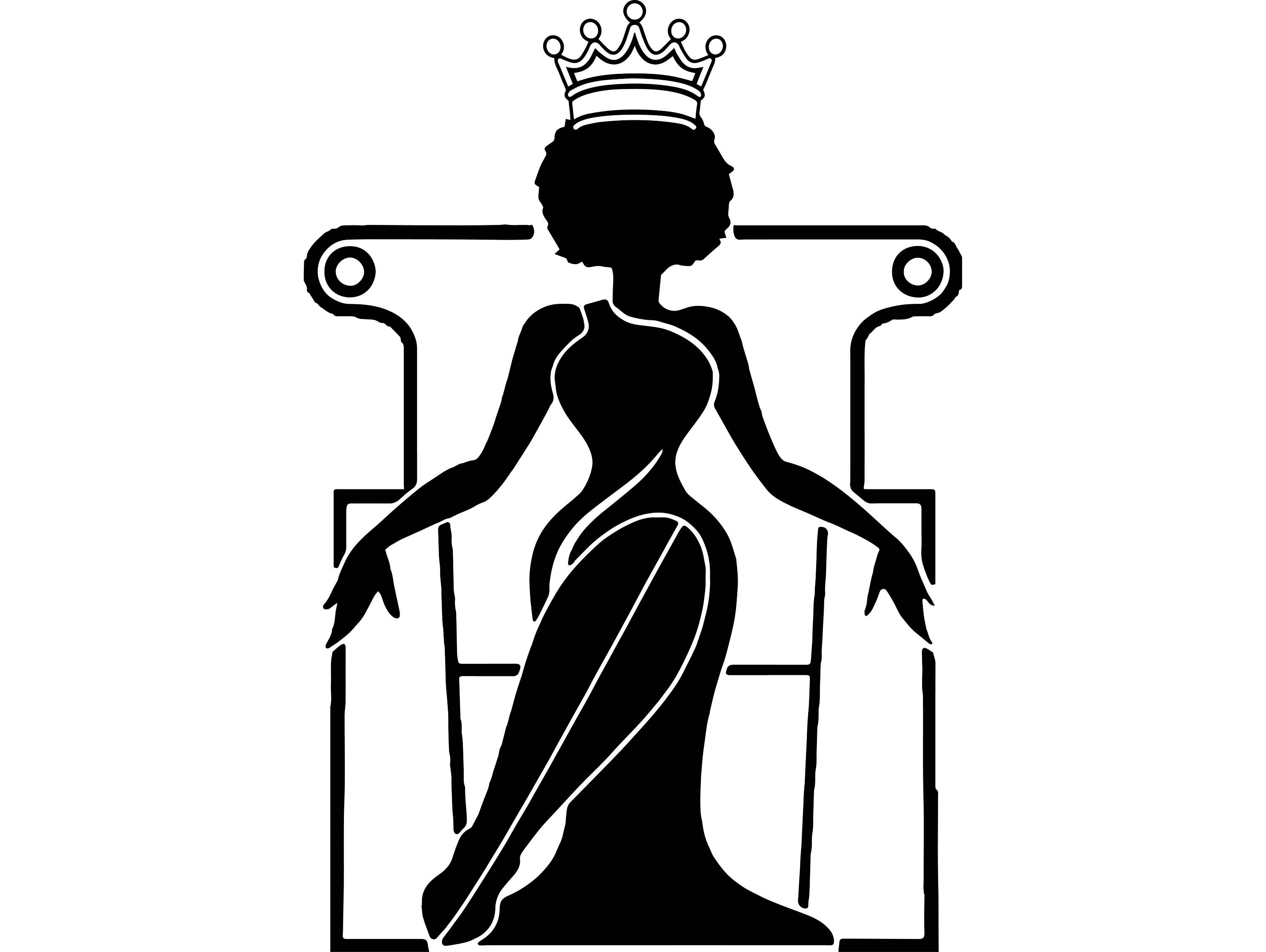 Queen Silhouette Vector At Getdrawings