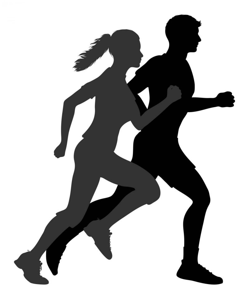 Run Silhouette Vector At Free For