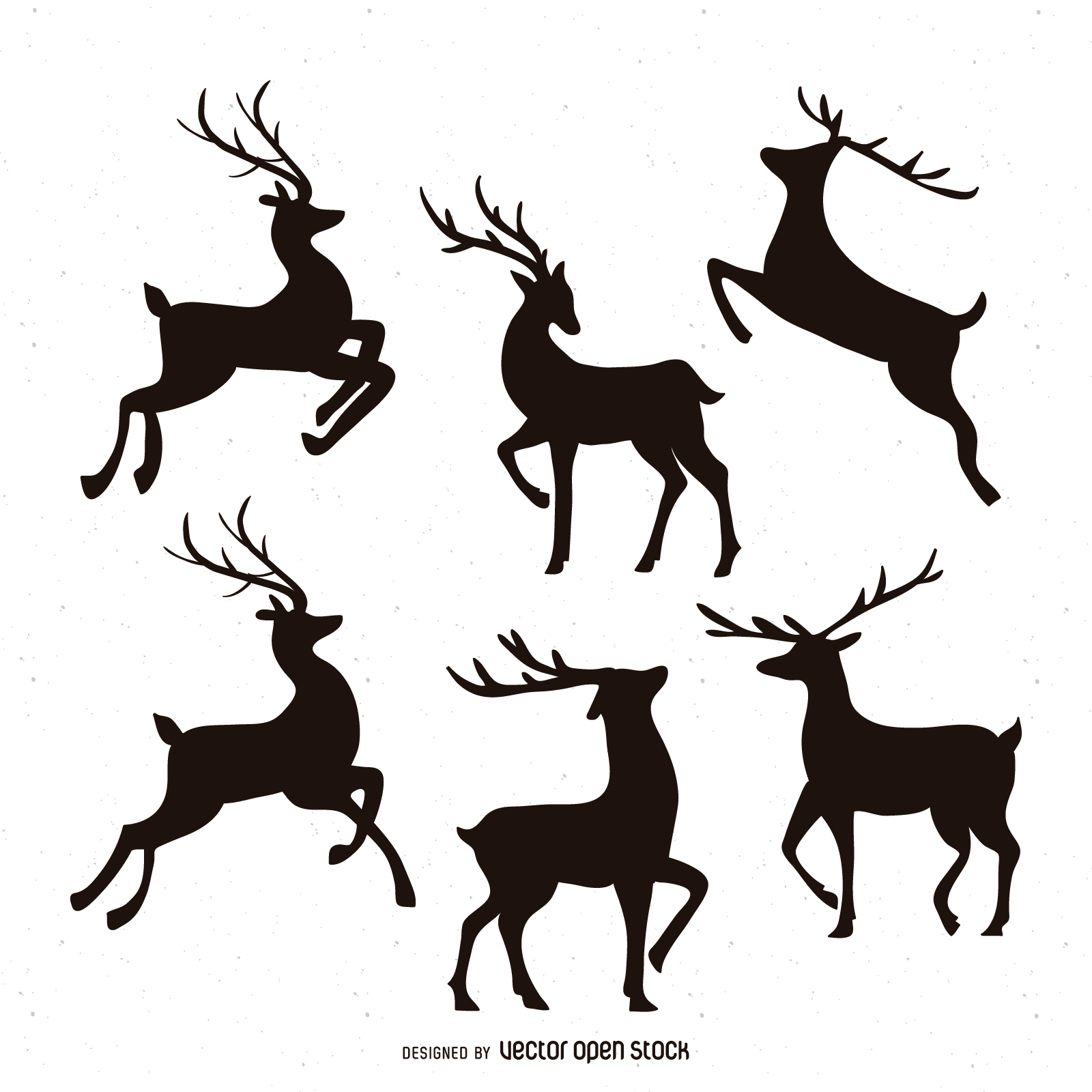 Santa And Reindeer Silhouette At Getdrawings
