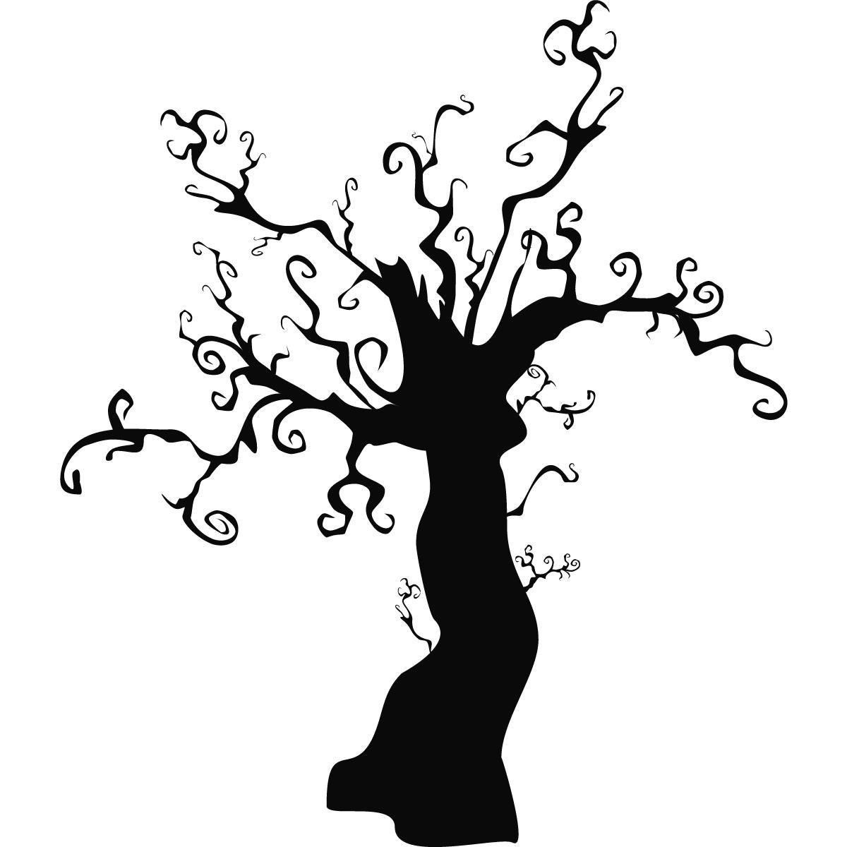 Spooky Halloween Tree Silhouette At Getdrawings