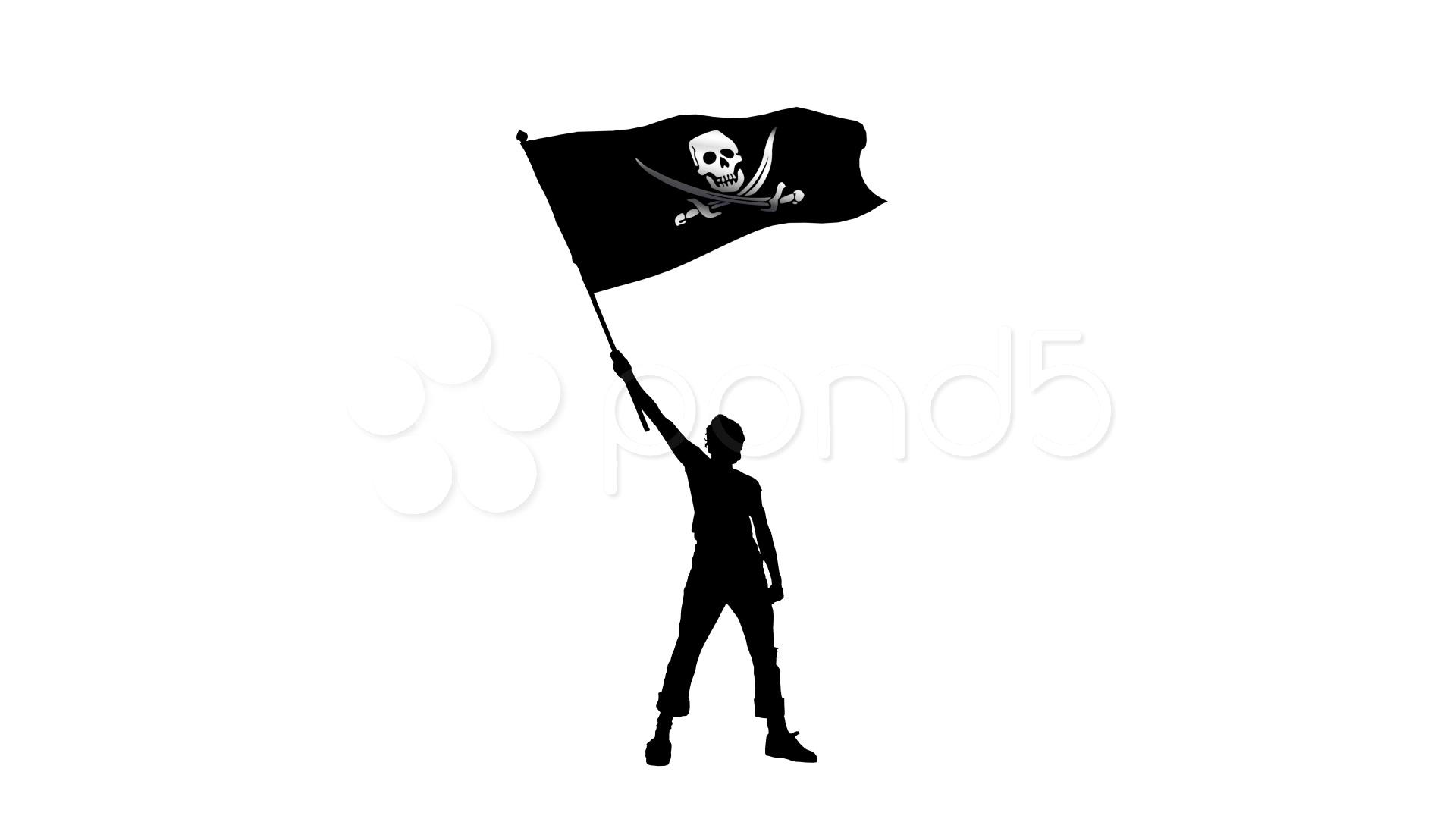 Waving Flag Silhouette At Getdrawings