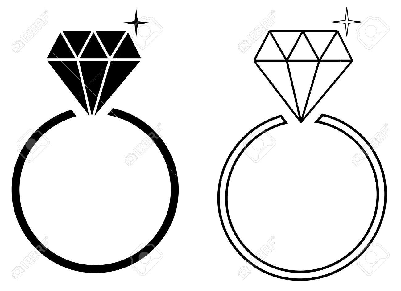Wedding Rings Silhouette At Getdrawings