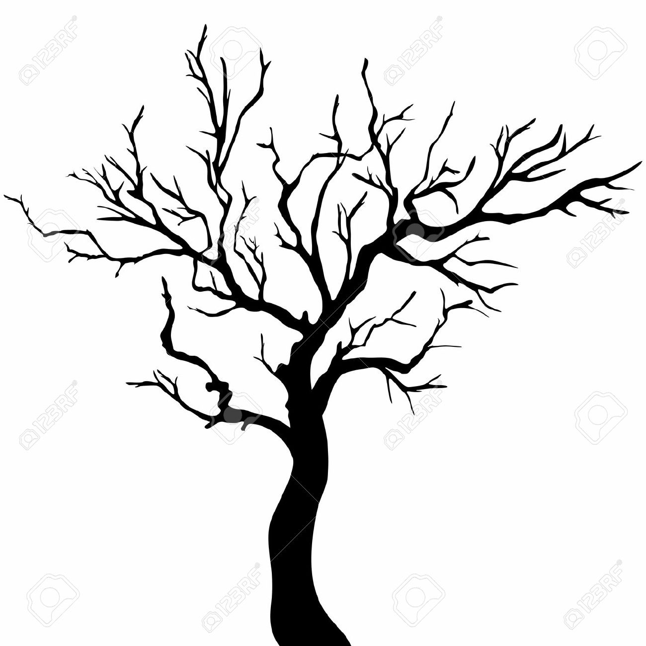 Willow Tree Silhouette Clip Art At Getdrawings