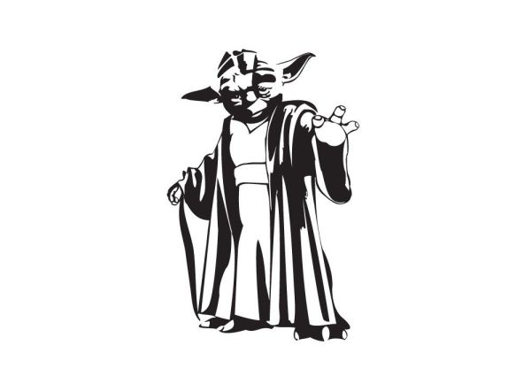 The best free Yoda silhouette images. Download from 97 ...
