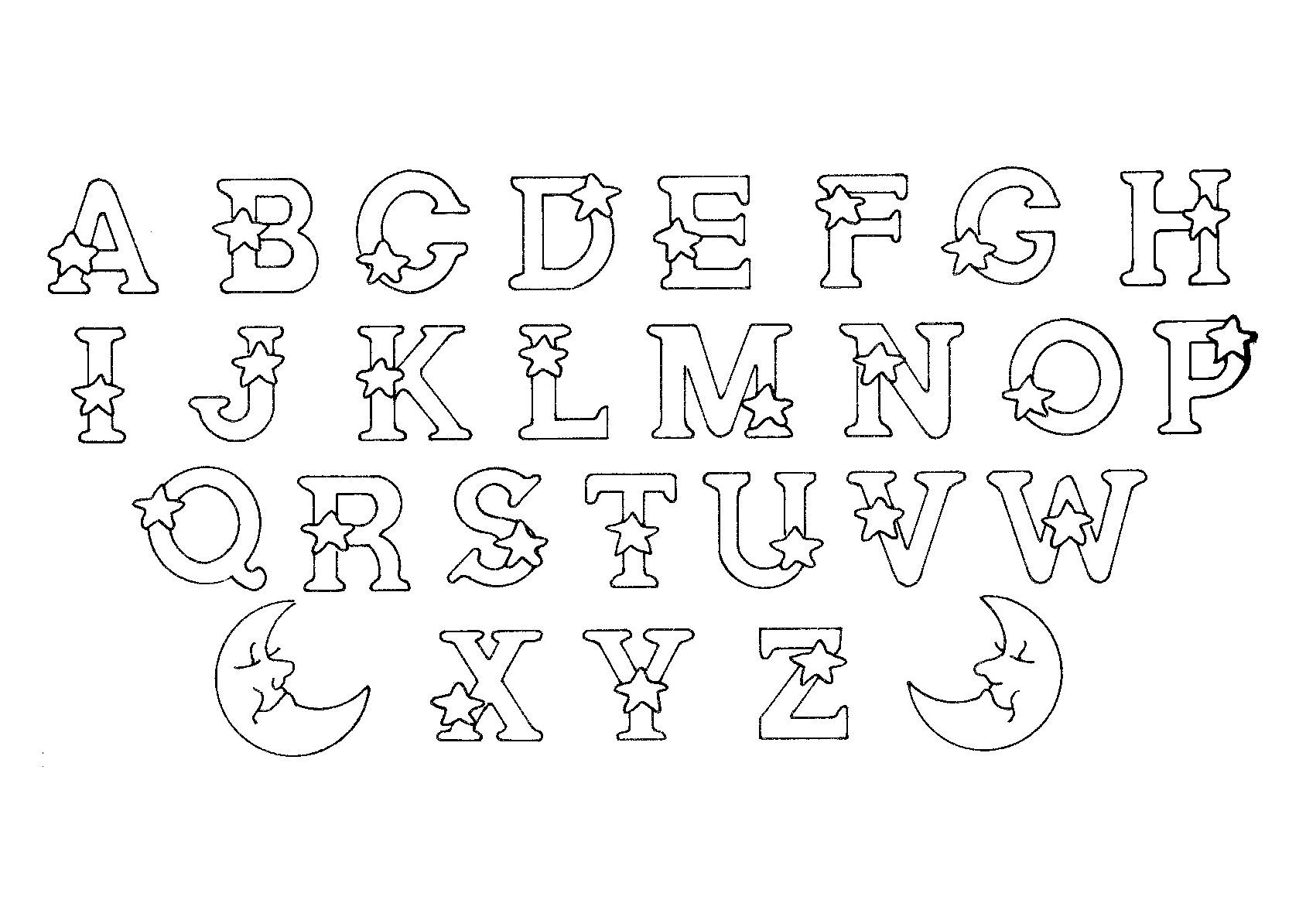 Alphabet Line Drawing At Getdrawings