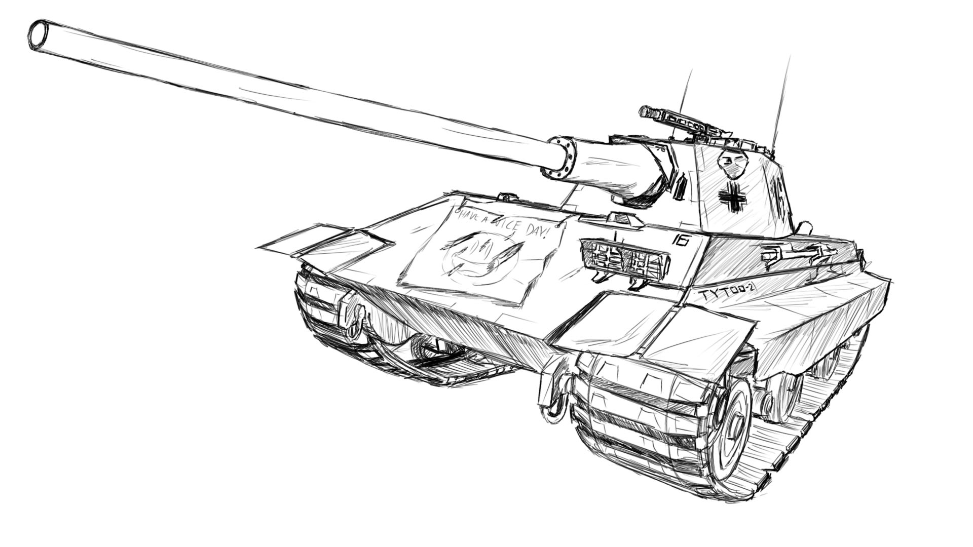 Churchill Tank Drawing At Getdrawings
