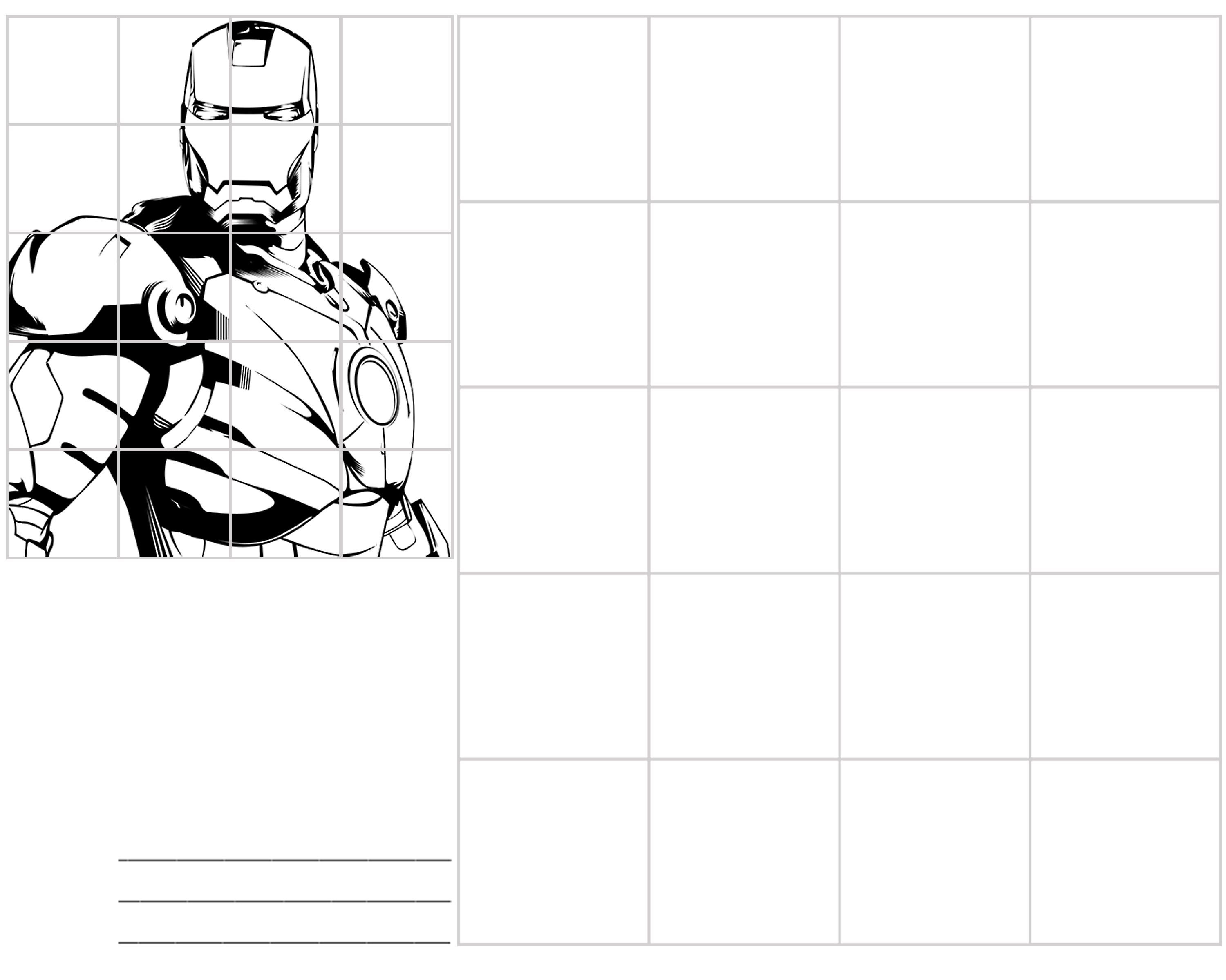 Iron Man Preschool Worksheet