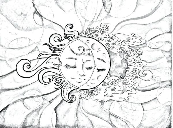 sun and moon coloring pages # 25