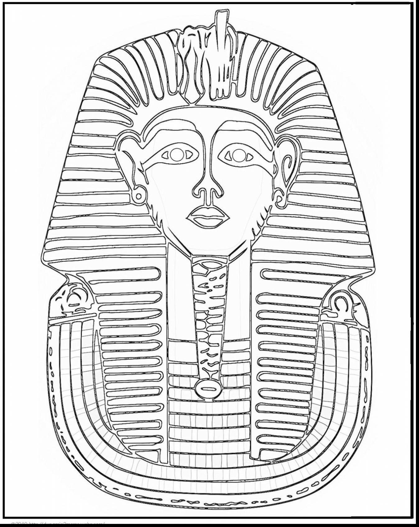 Tutankhamun Mask Drawing At Getdrawings
