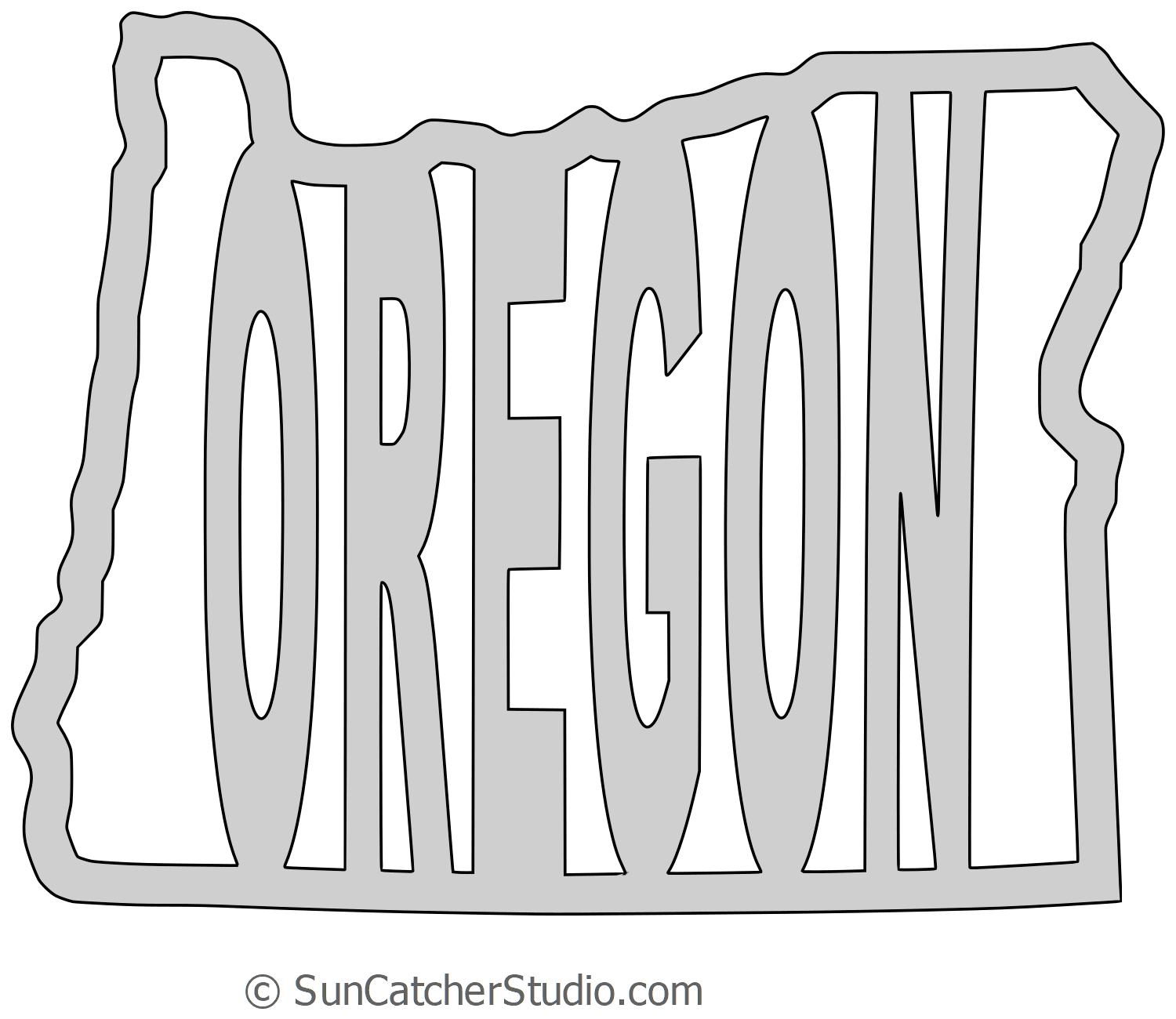 Oregon State Outline Vector At Getdrawings