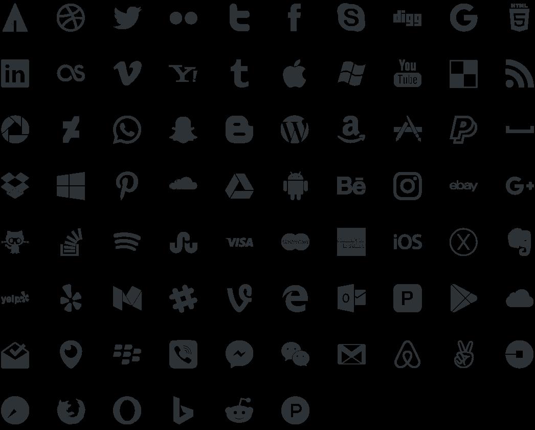 Social Media Logos Vector Free At Getdrawings