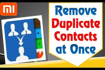 How to delete duplicate contacts in android All Mi & Redmi Mobiles