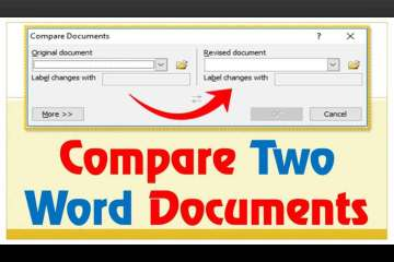 how to compare 2 word documents