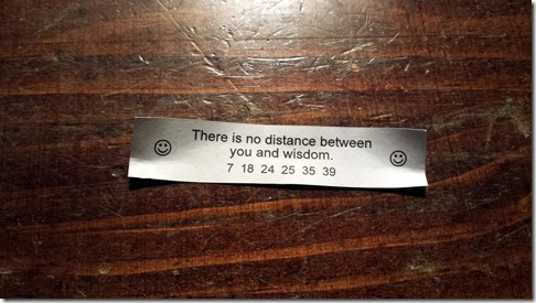 Fortune Cookie March 11 2014