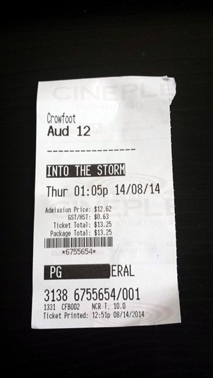 Into the Storm Movie August 14 2014