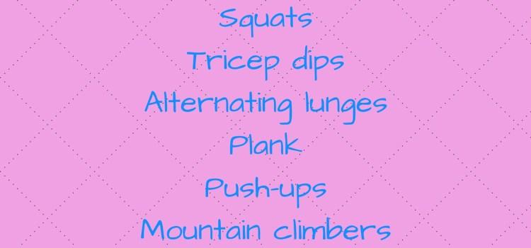 30 Minute Bodyweight Workout