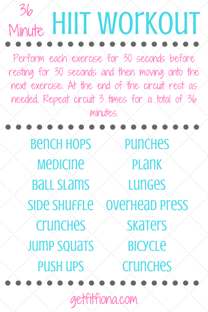 36 Minute HIIT Workout