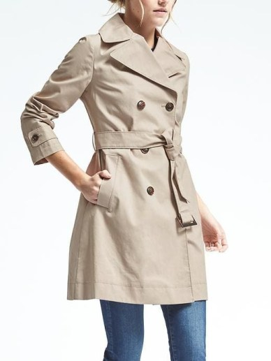 Belted Mac Trench