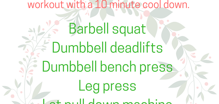 Full Body Christmas Strength Training Workout