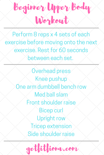 Beginner Upper Body Workout