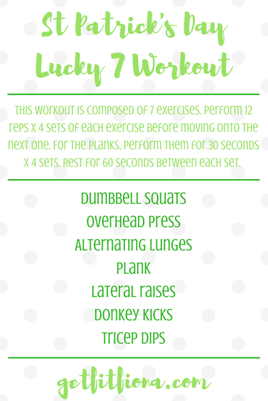 St Patrick's Day Lucky 7 Workout
