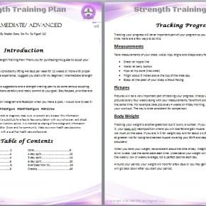 Get Fit. Go Figure! Strength Training Plan- Intermediate/ Advanced © (e-book)