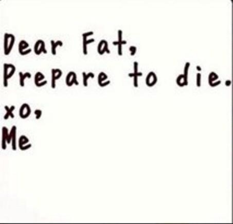 dear fat, prepare to die