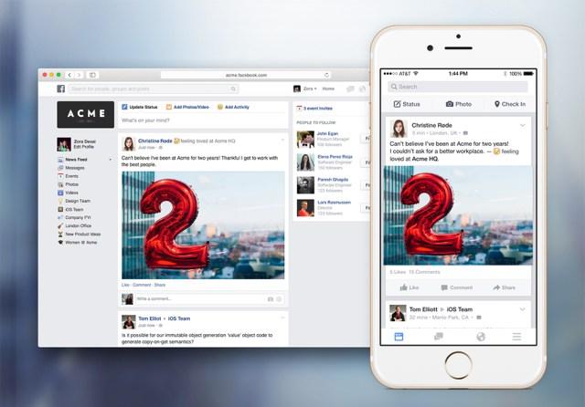 Facebook at Work ra mắt dành riêng cho dân văn phòng