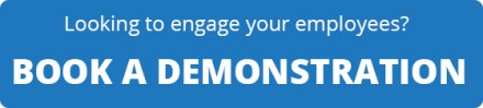 looking to engage your employees book a demonstration white text blue background rounded edges freepoint technologies