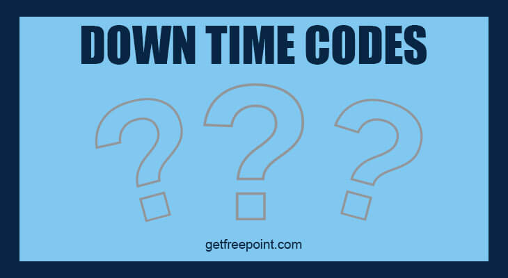 Downtime Codes