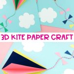 3d Craft Paper 3d Kite Paper Craft Pin