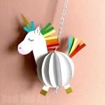 3d Craft Paper Paper Unicorn Crafts