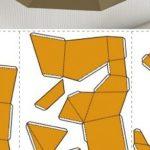 3d Craft Paper Papercraft Fox On Rock Paper Model 3d Paper Craft Paper Sculpture Craft Ideas Model 660x293 3d craft paper|getfuncraft.com