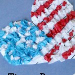 4th Of July Paper Crafts American Flag Craft Tissue Paper 4th of july paper crafts|getfuncraft.com