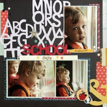 Back to school Scrapbook Ideas to Make 30 Days Of Sketches With Christy School Days Using My Sketch