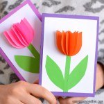 Card Paper Craft 3d Tulip Card Craft For Kids card paper craft|getfuncraft.com