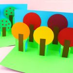Card Paper Craft Fall Pop Up Tree Card 1 card paper craft|getfuncraft.com