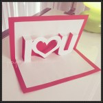 Card Paper Craft I Love U Pop Up Card V2 Papercraft card paper craft|getfuncraft.com