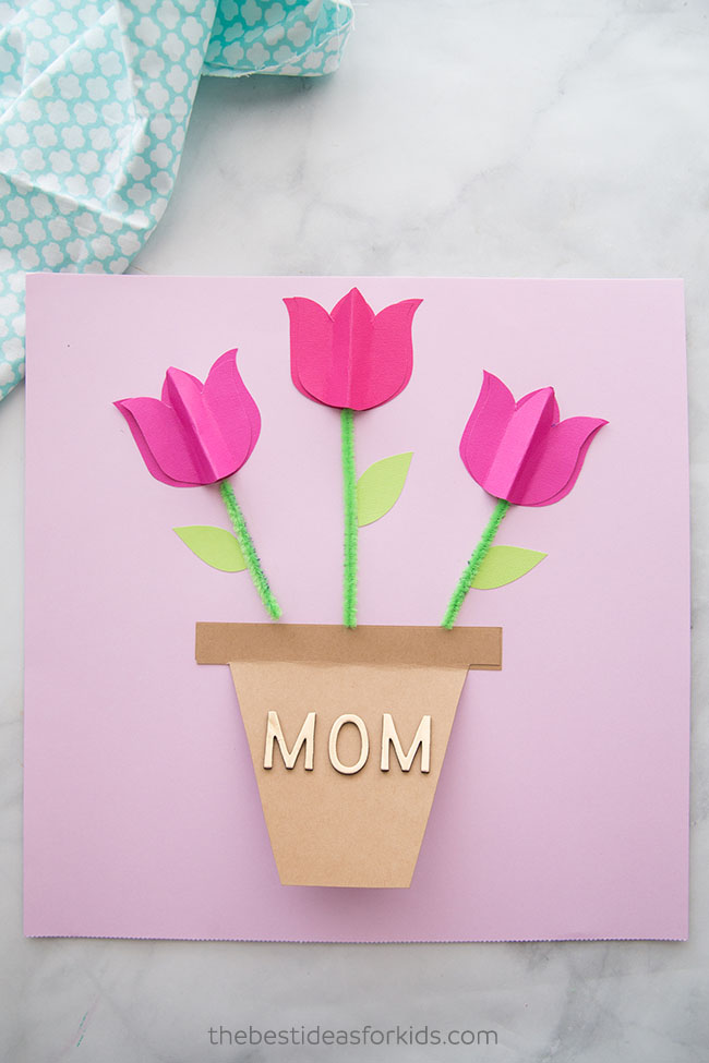 Card Paper Craft Mothers Day Card Craft For Kids card paper craft|getfuncraft.com