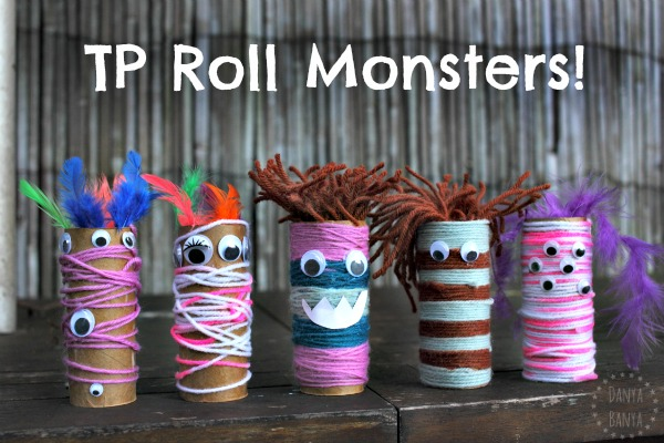 Craft Ideas For Toilet Paper Rolls Tp Roll Monsters Fun Halloween Or Monster Theme Craft For Kids craft ideas for toilet paper rolls|getfuncraft.com